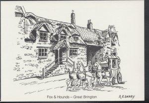 Northamptonshire Postcard - Fox & Hounds Pub, Great Brington     RR3233