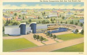 New York World's Fair Marine Transportation Hall Vintage Postcard 8A-H950