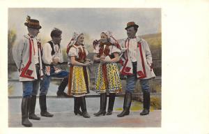 Popolaj Kostumoj de la regiono moravia-slovakia Cechoslovakio folk costumes