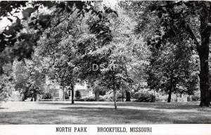 C71/ Brookfield Missouri Mo Real Photo RPPC Postcard 1958 North Park Scene