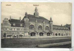 germany, LÜBECK, Bahnhof, Railway Station (1908)