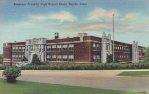 Iowa Cedar Rapids Benjamin Franklin High School 1946 Curteich