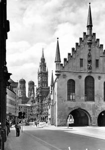Munchen - Old City Hall, real photo