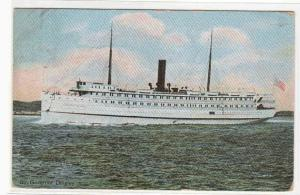 Steamer Governor Dingley Portland Maine 1909 postcard