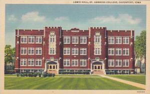 Lewis Hall, St. Ambrose College, Davenport, Iowa, 30-40s