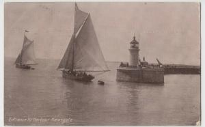 Kent; Entrance To Harbour, Ramsgate PPC By B&R, 1915, To Miss Lill, Forest Gate
