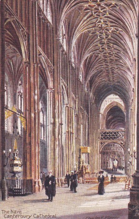 AS, TUCK #7021, The Nave, Canterbury Cathedral, CANTERBURY (Kent), England, U...