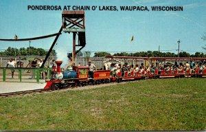 Miniature Train Ponderosa At Chain O' Lakes Waupaca Wisconsin