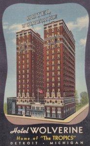 DETROIT , Michigan , 1930-40s ; Hotel Wolverine