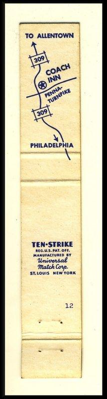Fort Washington, Pennsylvania/PA Mini-Match Cover, The Coach Inn
