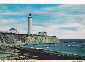 Lighthouse ,Le Phare du Cap des Rosiers , Gaspe, Quebec , Canada , 50-70s
