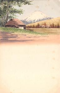 Japan Old Vintage Antique Post Card Mt Fuji Unused