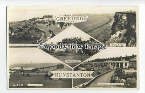 tq1624 - Norfolk - Multiview x 5, of Various Views around Hunstanton - Postcard