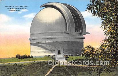 Space Postcard Post Card San Diego County, CA, USA Palomar Observatory Space ...