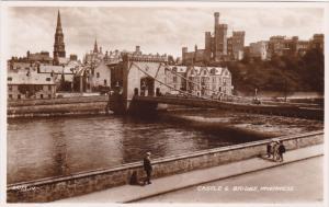 RP; Castle & Bridge, Inverness, Scotland, United Kingdom, 20-30s