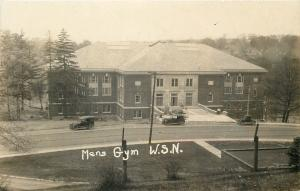 WSN Men's School Gymnasium~Real Photo Postcard 1925 From Hazel Crook