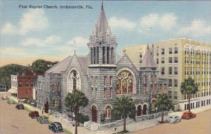 Florida Jacksonville First Baptist Church 1944 Curteich