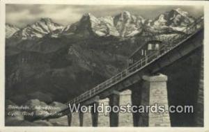 Mondi und Jungfrau Germany, Deutschland Postcard Niesenbahn, Schreckhorner Mo...