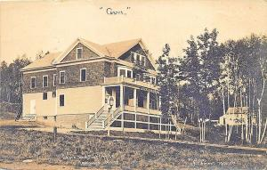 Rockwood ME Store and Post Office in 1909 Real Photo Postcard