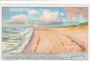 Liebig Trade Card S1316 European Coastal Formations No 4 Le Littoral sablonne...