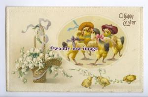 GR0052 - Easter - Embossed, Family of Chic's, & Lilly of the Valley  - postcard
