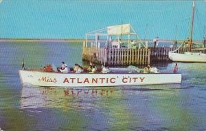 New Jersey Atlantic City Miss Atlantic City Passenger Speedboat 1952