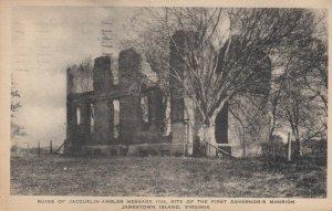 JAMESTOWN , Virginia, 1926; Ruins of Jacquelin-Amber Home