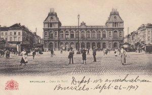 BRUSSELS, Belgium, 1900-10s; Gare Du Nord