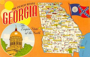 The Peach State, Georgia USA Postcard Unused