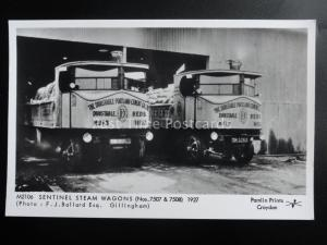 SENTINEL STEAM WAGONS (Lorry) of Dunstable - Pamlin Print RP Postcard M2106