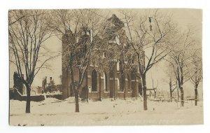 C.1917 RPPC Asbury Park NJ, First Methodist Episcopal Church After the Fire