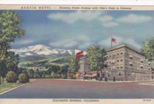 Colorado Colorado Springs The Acacia Hotel 1949 Curteich