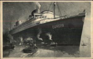 Steamship Norddeutscher Lloyd Bremen D. Europa Used 1931 Postcard