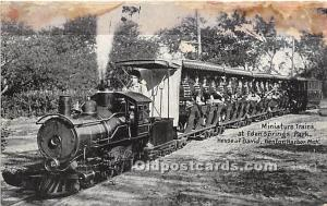 Benton Harbor, Michigan, MI, USA Postcard Miniature Trains at Eden Springs Pa...