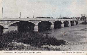 KANKAKEE , Illinois, PU-1910 ; Cement Bridge, Kankakee River