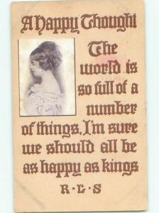 Divided-Back PRETTY WOMAN Risque Interest Postcard AA8048