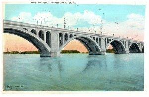 1920's Key Bridge Georgetown Washington D.C. PC1993