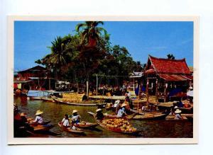 196745 Thailand Floating Market old postcard