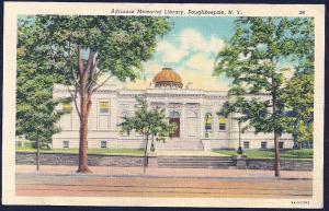 Adriance Memorial Library Poughkeepsie New York unused c1938