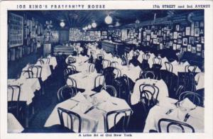 Interior Joe King's Fraternity House Restaurant New York City