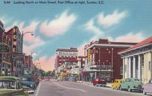 South Carolina Sumter Main Street Looking North With Post Office On Right