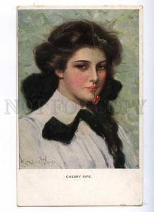 189662 Cherry Ripe FEMALE HEAD by UNDERWOOD Vintage M. MUNK