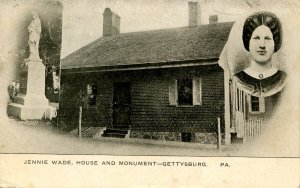 PA - Gettysburg. Jennie Wade, House and Monument