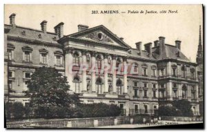 Old Postcard Courthouse Cote Nord Amiens