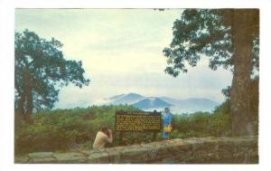 Couple at Old Rag Mountain Overlook, Shenandoah National Park, Virginia,40-60s