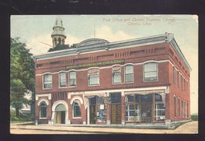 OBERLIN OHIO DOWNTOWN POST OFFICE BUSINESS COLLEGE VINTAGE POSTCARD