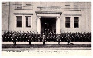 Connecticut Bridgeport Police and Charities Building, Police standing in front