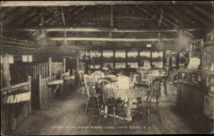 Center Ossipee NH Dining Room Indian Mound Camps Postcard
