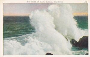 California Santa Barbara Big Waves