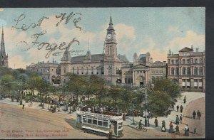 Lancashire Postcard - Christ Church, Town Hall, Bank Buildings, Southport RS5197